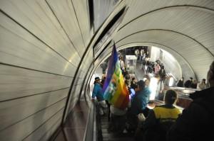 Dans le métro à Moscou