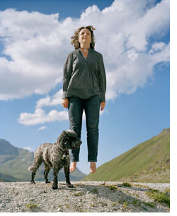 Isabelle et son chien Ulysse