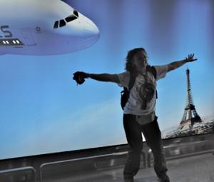 Isabelle Bourgeois à l'aéroport