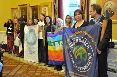 Les représentants de la Marche ont été reçu officiellement à la Mairie de Wellington le 1er octobre